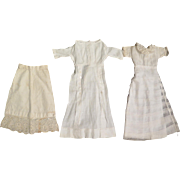 2 Edwardian Lady Dresses plus Slip for 16-18 inch Doll