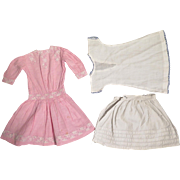 Antique Pink Dress for 18-19 inch Doll