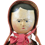 Late 1800s German Peg Wooden Doll 17 inches