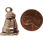 English Sterling Silver 1908 Billiken Charm Pendant