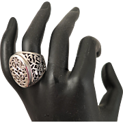 Antique Sterling Silver Filigree Ring Size 10