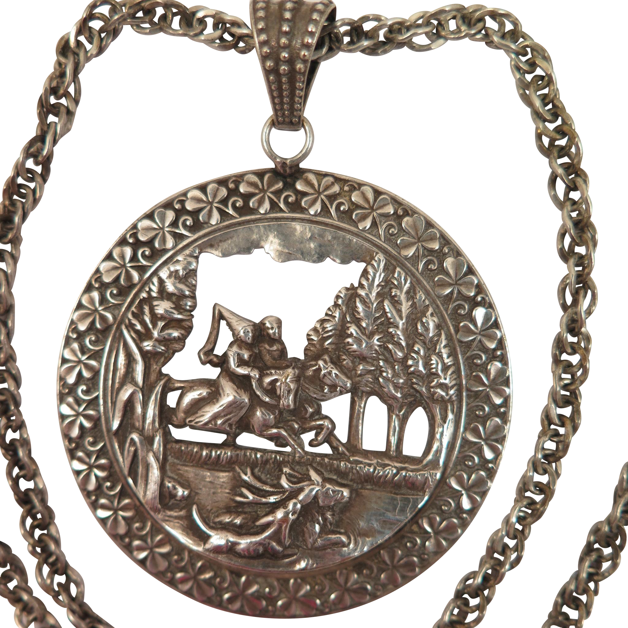 Antique Fairy Tale Pendant Necklace