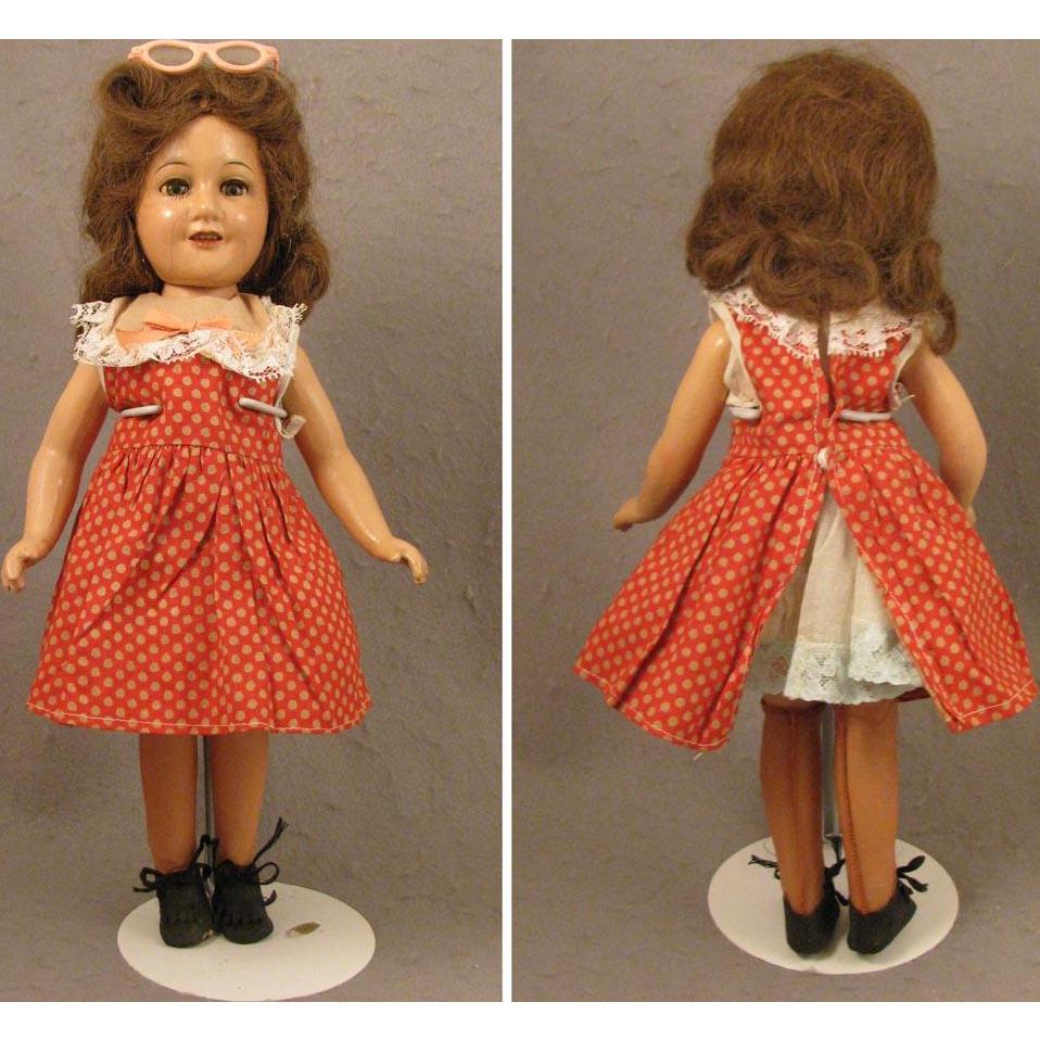 14 inch Composition 1939-1941 Deanna Durbin Doll Mayfair Twist Waist Body