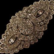 1936 - 37 Trifari Rhinestone Clipmates Duette Brooch Dress Clips Set