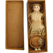 17 inch 1860s French Steiner Bébé Gigoteur or Parlant Automatique Doll with Box