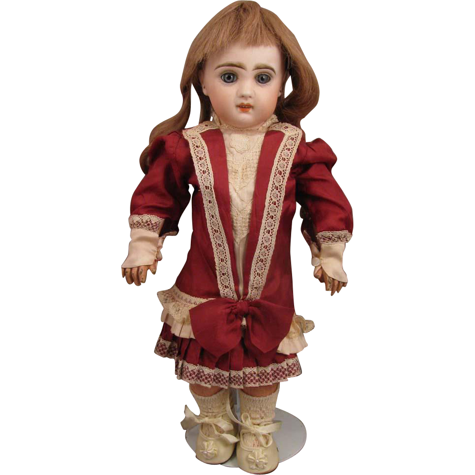 15 inch Jumeau no.5 French Bisque Bebe Doll with Open Cut Mouth