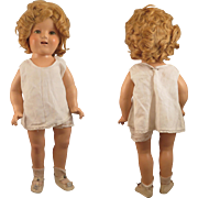 1930s Ideal Composition Shirley Temple Doll 18 inch