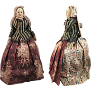 1850s Poured Wax Lady Doll 13 inch