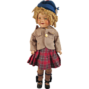1937 Shirley Temple Wee Willie Winkie Composition Doll 22 inch