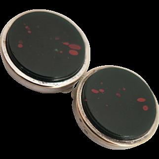 Vintage Bloodstone Cufflinks