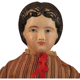 18 inch 1870s American Papier Mache Doll