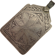 Antique Moroccan Berber Sterling Silver Pendant Amulet