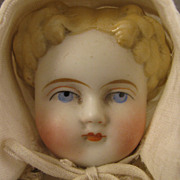 1860s All Original 11 inch German Bisque ABG Shoulder Head Doll