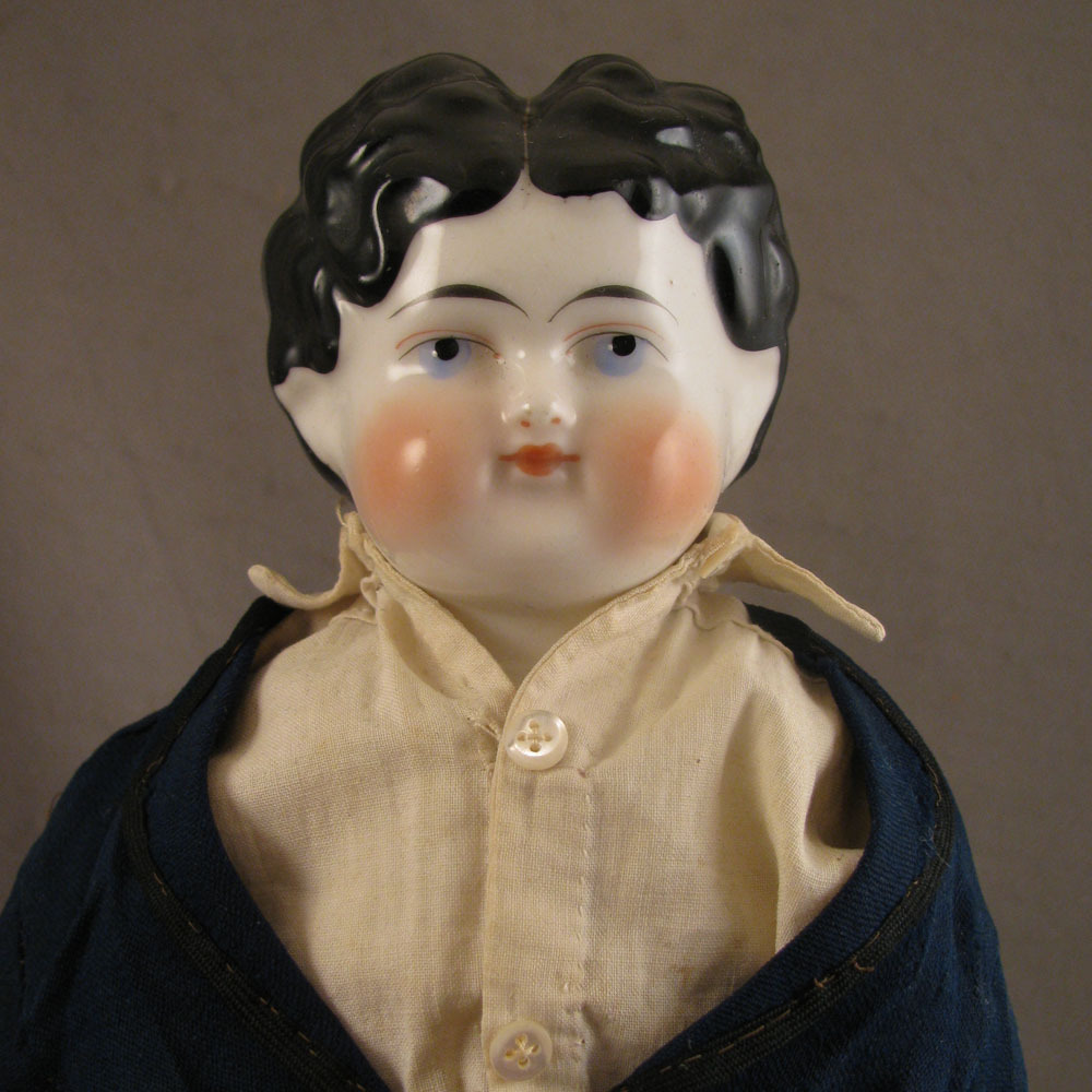 "19"" Antique German ABG China Head Doll Dressed as Man"