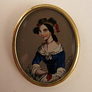 Victorian Revival Lady Portrait Brooch