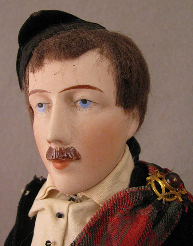 12 inch Damerval and Laffranchy Male Doll in Original Scottish Costume