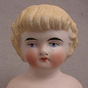 Small Model 137 Blond Bisque Doll Shoulder Head w/Bangs