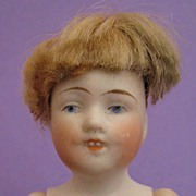 5 inch Kestner 150 All Bisque Child Doll with Molded Open Mouth and Teeth
