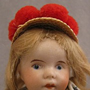 7 inch SFBJ Bisque Doll in Regional Costume