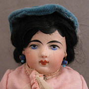 10 inch Dark Haired Francois Gautier 3/0 Shoulder Head on Kid Body