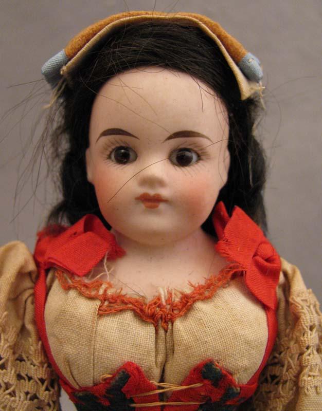 8 inch Belton Type Bisque Doll in Italian Regional Costume