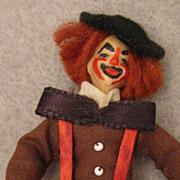"""NIADA Irma Parks1960s Miniature 3"""" Wax Clown Doll"""