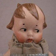3 inch Side Glance Eyes All Bisque Doll