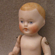 4 inch German All Bisque Blond Naked Baby Boy