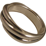 Vintage Sterling Silver Twist Bangle Bracelet