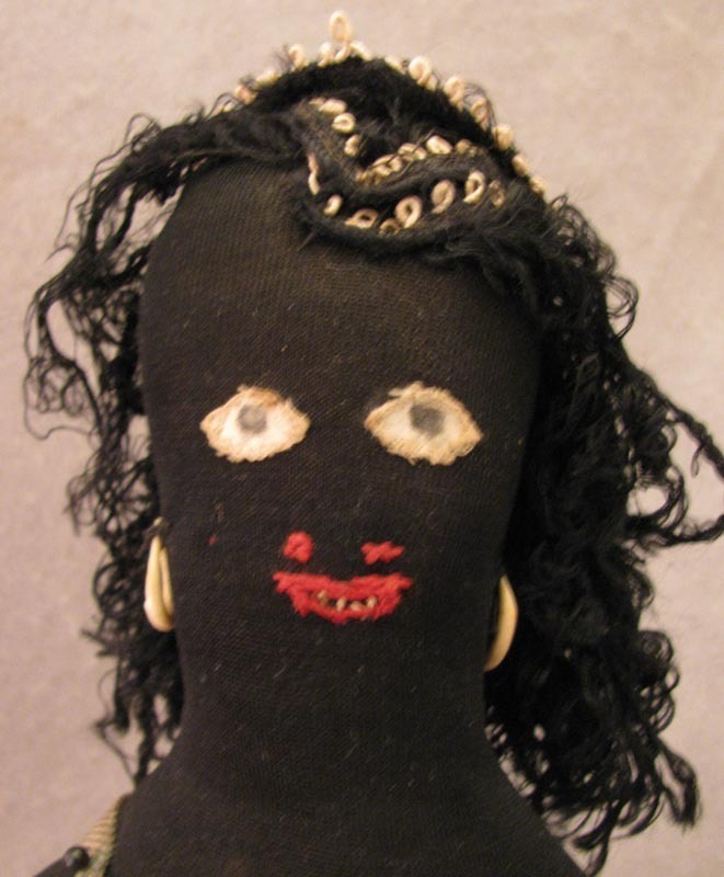 "12"" Home Made Ethnic Black Cloth Doll c. 1920s-30s"