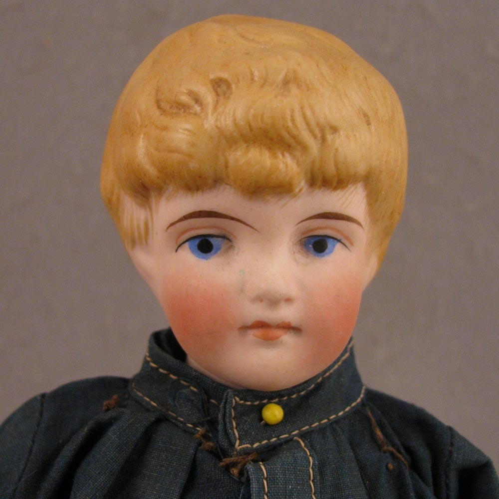1880s German Kling Blond Bisque Model #143 Boy Doll