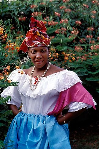 Vintage Felt Ethnic Caribbean Black Folk Art Doll In