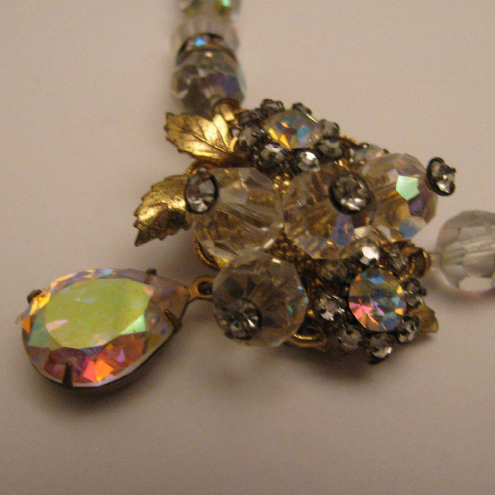 1950s Vintage AB Crystal Necklace