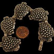 Vintage Sterling Silver Grapes Bracelet