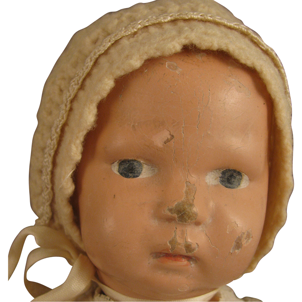 "12"" Schoenhut Wooden Jointed Nature Limb Baby Doll 13/107W"