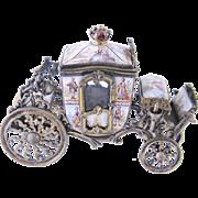 Rare Antique Viennese Enamel  BRONZE CARRIAGE Box