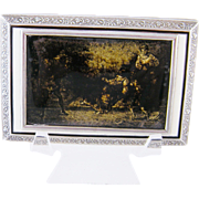 1920 Vienna Austria FRANK & NIKALADONI & CO Sterling Silver Enamel Scene Box