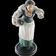 Antique Neapolitan  Italian Woman with Apples Carved  CRECHE FIGURE Figurine