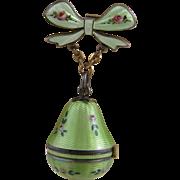ANTIQUE SWISS Light Green Enamel  Pear Shape Watch