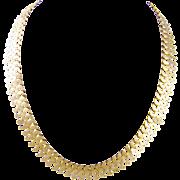 Antique French  Hallmarked 18 Karat Gold  FRINGE NECKLACE