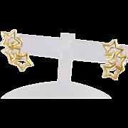 Vintage Estate 18 Kt Gold  TIFFANY & CO Triple Star Earrings