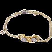 Fine Estate Vintage  18 Kt GOLD w Diamonds Chain Bracelet