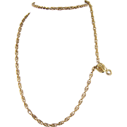 Superb Antique 14 Kt Gold Chain  with DROP 38 GRAMS