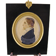 Antique 1817 English  MINIATURE PORTRAIT  of 17 Year Old James Hooper  of  BATH by Dixon