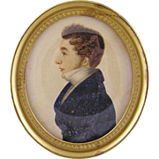Antique English 1817  MINIATURE PORTRAIT Brother of James Hooper by Dixon
