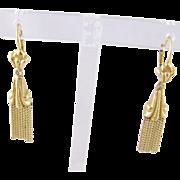 Antique Italian 18 Karat Gold Fringe  Tassel NEO CLASSICAL EARRINGS
