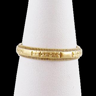Antique ART NOUVEAU 14 Karat Gold Hallmarked Engraved Band Ring