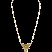 Antique 14 Karat Gold with .75  Carats Diamonds PENDANT NECKLACE