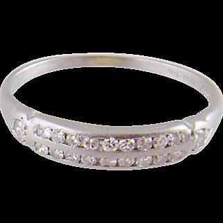ANTIQUE PLATINUM with European Diamonds Band Ring