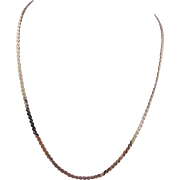 Estate 14 Karat Gold 16 Inch  SERPENTINE STYLE Chain Necklace